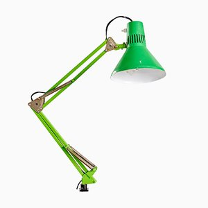 Vintage Industrial Green Workshop Lamp, 1970s