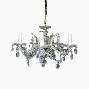 Lámpara de araña Art Déco de cristal