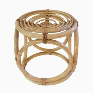 Taburete francés de bambú, años 70