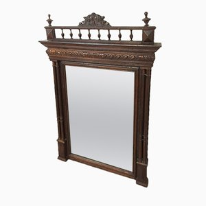Antiker Henry II Trumeau Spiegel