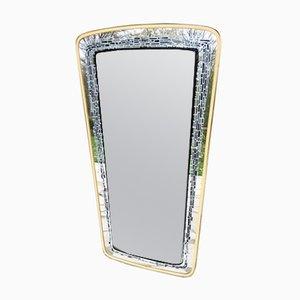 Specchio con motivo sulla cornice, anni '60