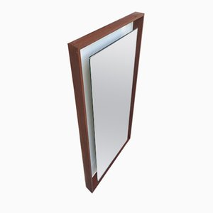 Teak Göteborg Backlit Mirror from Hillebrand, 1960s