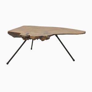 Tavolino da caffè Mid-Century viennese con ripiano a forma di corteccia, anni '50