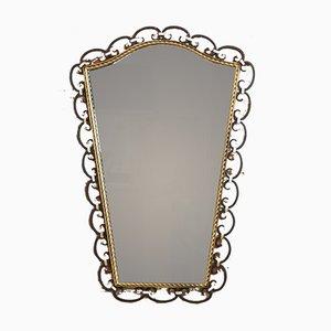 Mid-Century Wrought Iron Mirror, 1950s