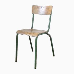 Industrieller Vintage Stuhl in Grün