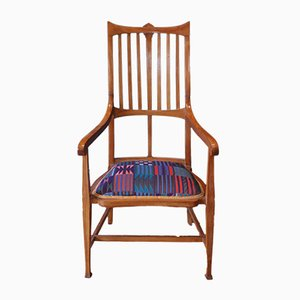 Edwardian Glasgow School Arts & Crafts Oak Armchair