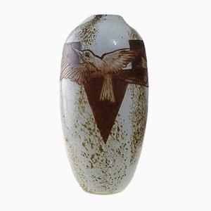 Grand Vase Antique Art Deco en Verre par Théodore Legras pour Viart