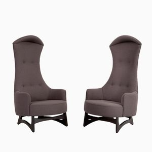 Highback Lounge Chairs by Adrian Pearsall for Craft Associates, 1950s, Set of 2