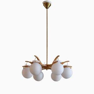 Lámpara de araña de Uno & Östen Kristiansson para Luxus, años 60