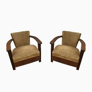 French Art Deco Armchairs, 1930s, Set of 2