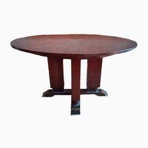 Tavolo da pranzo allungabile di Jules Leleu, anni '30