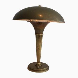 Lámpara de latón de Maison Perzel, años 30
