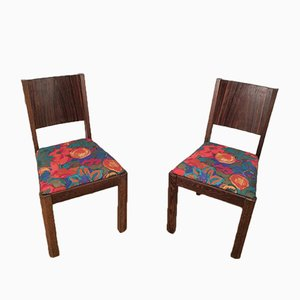 Macassar Ebony Chairs, 1930s, Set of 2