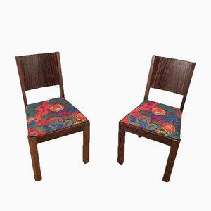 Stühle aus Macassar-Ebenholz, 1930er, 2er Set