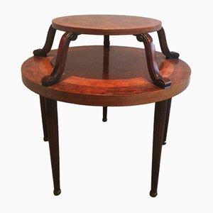 Table Centrale à 2 Niveaux Art Déco Vintage