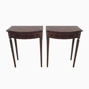 Tavolini in mogano con cassetto, anni '20, set di 2