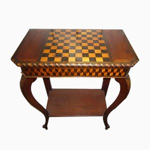 Vintage Marquetry Console Table