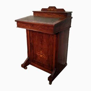 Antique Marqueted Davenport Dresser
