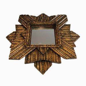 Sternförmiger Vintage Spiegel aus Eiche von AR-BO