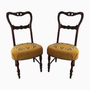 Antike englische Stühle, 2er Set