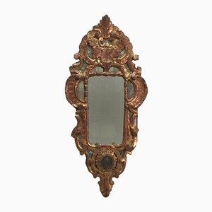 Antiker Rocaille Spiegel mit Rahmen aus vergoldetem Holz