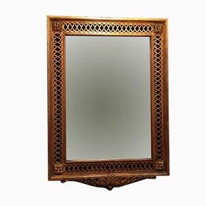 Espejo de madera dorada tallada, años 20