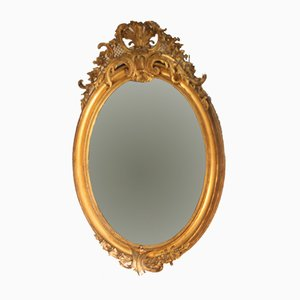 Large Antique Oval Mirror