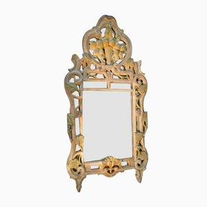Espejo grande de madera tallada, años 50