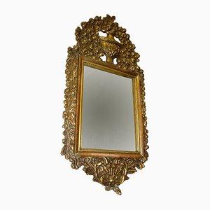 Specchio in legno dorato e gesso, fine XIX secolo