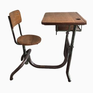 Antique Industrial Children's Desk