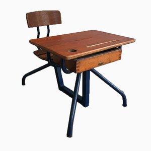 Escritorio infantil de madera y metal, años 20