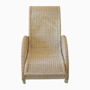 Paris High Back Rattan Chair by Arne Jacobsen, 1985