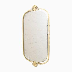 Mid-Century German Brass Mirror, 1960s