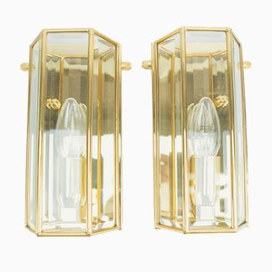 Golden Wall Lamps from Limburg, 1960s, Set of 2