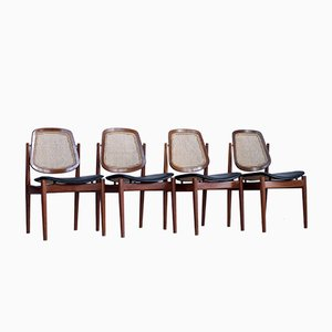 Danish Chairs by Arne Vodder for France & Søn, 1960s, Set of 4
