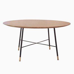 Tavolino da caffè con ripiano in legno di Ico Parisi, anni '60