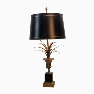Vintage Palmen Tischlampe von Maison Charles