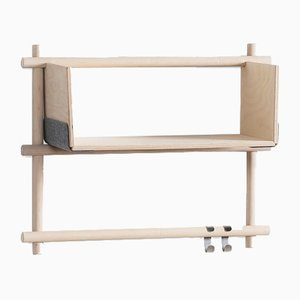 Folding Shelving Unit 12+1 with 2 hooks by etc.etc. for Emko