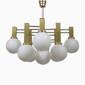 Lámpara de araña italiana, años 70