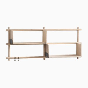 Folding Shelving Unit 22+2 with 2 hooks by etc.etc. for Emko