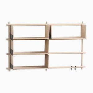 Folding Shelving Unit 23+4 with 2 hooks by etc.etc. for Emko