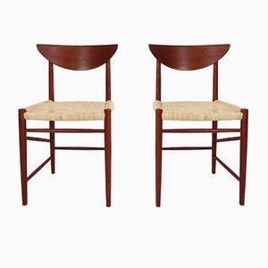 Sillas modelo 316 de Peter Hvidt & Orla Mølgaard-Nielsen para Søborg, años 50. Juego de 2