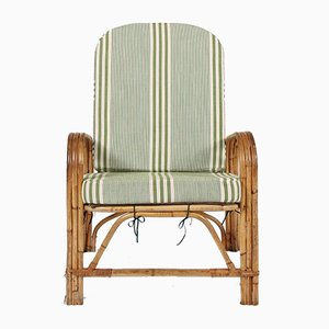 Vintage Bamboo Folding Lounge Chair