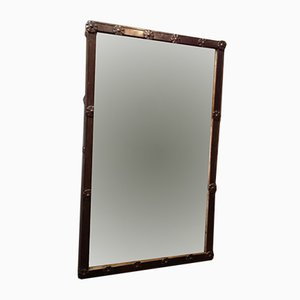 Antique Riveted Iron Mirror
