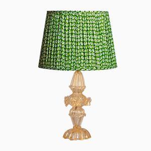 Goldene Murano Glas Tischlampe, 1950er