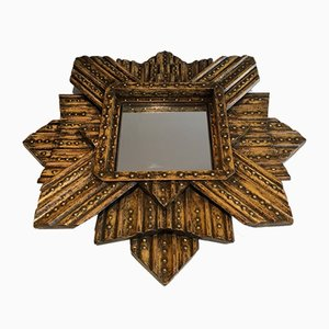 Vintage Painted Oak Star Mirror from AR-BO