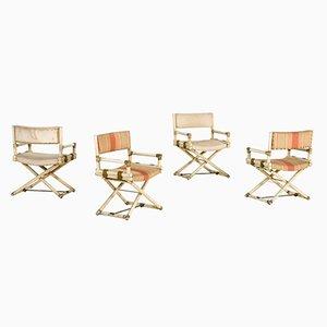 Chaises en Bambou Laqué de McGuire, 1960s, Set de 4