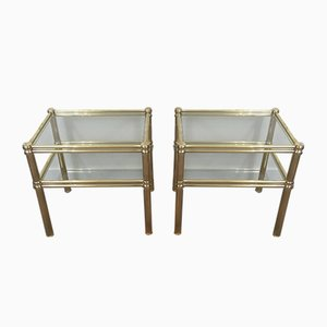 Tables d'Appoint en Laiton, 1970s, Set de 2