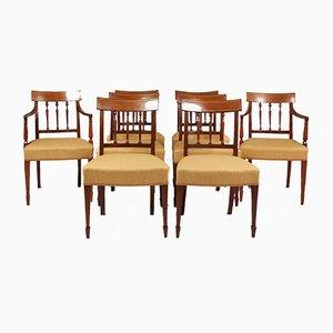 Antike George III Esszimmerstühle, 8er Set