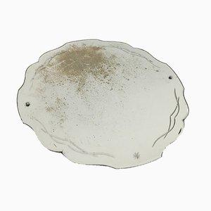 Espejo en forma de concha grabado, años 40